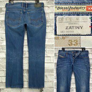 Diesel Zatiny Mens W33 L32 Button Fly Bootcut Jean